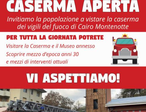 """I Vigili del Fuoco di Cairo presentano """"Caserma Aperta"""""""